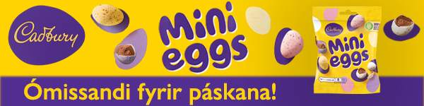 Cadbury Mini Eggs vefbordi 600x150px